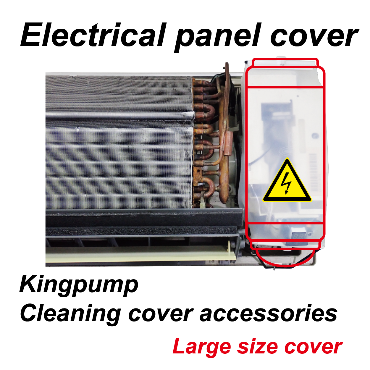 Kingpump Cleaning cover accessories Electrical panel cover (Large size cover)